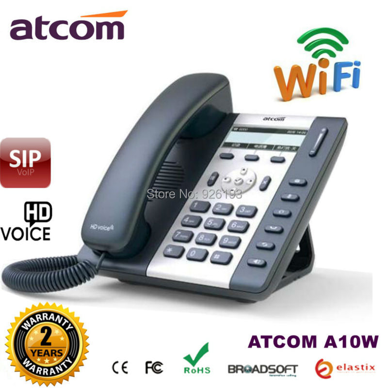 ATCOM A10W 1 SIP WIFI Phone Entry-level business wireless IP Phone , HD voice, Desktop wifi IP Phone voip sip phon atcom a21 poe 2 sip line entry level business ip phone dual core cpu hd voice backlight lcd desktop office voip telephone