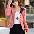 2016 autumn jacket new Korean Women Slim thin OL temperament short paragraph small suit career