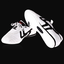 цена на White Breathable Profession Taekwondo Shoes Unisex Taekwondo Boxing Kung Fu Sport Gym Shoe Martial Arts Shoes for Child Adult E