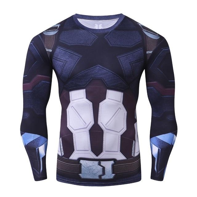 73979db373af5 2018 Avengers Infinity War 3D Captain America Compression Men T-Shirt  Fashion Long Sleeve Funny T Shirt Crossfit Fitness Tshirt