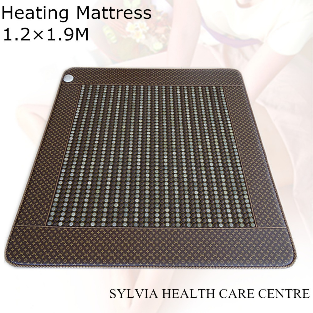 220V Health care products for old people jade and germanium stone heating massage mattress cushion free shipping 1.2X1.9M new heating jade stone infrared massage sofa cushion with temperature display bed sofa mattress health care germanium stone mat