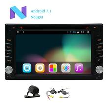 Android 7.1 Car DVD Player support Wifi Screen Radio Auto video Bluetooth Car Deck GPS Navigation Free MAP+ rear Back Camera