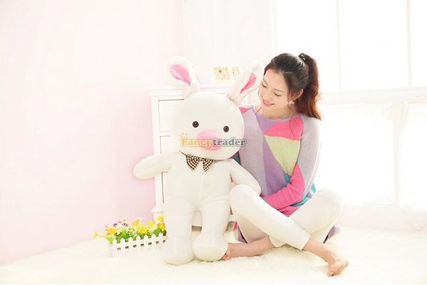 Fancytrader 59\'\' 150cm Super Lovely Plush Soft Stuffed Jumbo Pig Rabbit Toy, Valentine Birthday Christmas Gift and Decoration Toys, Free Shipping FT50089 (2)
