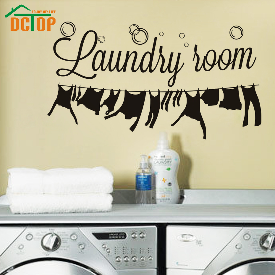 Hot sale laundry room wall stickers creative removable for Home decor sales online
