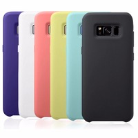 Original Case For Samsung Galaxy S8 Case Official Liquid Silicone Cover Milk Feeling Skin Cell Phone