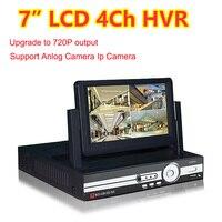 7 ЖК дисплей монитор CCTV 4CH канала DVR 720 P рекордер HDMI Выход AHD DVR 4 канала HVR DVR Поддержка NVR аналоговая ip камера 3g WI FI