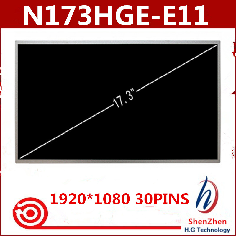 Original A+ 17.3 LED Screen N173HGE-E11 1920x1080 HD Display eDP 30Pin For Asus G74SX-A1 for Acer V3-772G 17 3 laptop lcd screen led backlight 30 pin fit for asus g74sx a1 n173hge e11 acerv3 772g 1920 1080