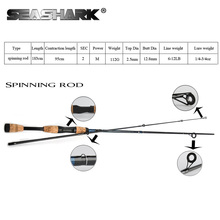 Fishing rod M power 2 section spinning rod casting rod  1.8 M high quality winter fishing rod