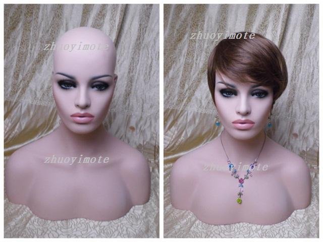 Busto de cabeza de maniquí femenino vintage de fibra de vidrio - Artes, artesanía y costura