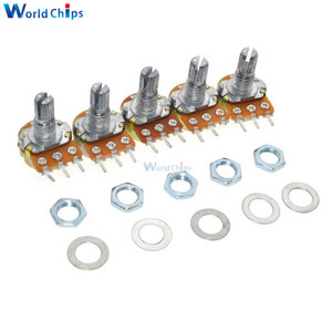 10Pcs WH148 Linear Potentiometer B1K B20K B50K B100K B500K 15mm Shaft With Nuts Washers 3pin WH148 B10K 6PIN