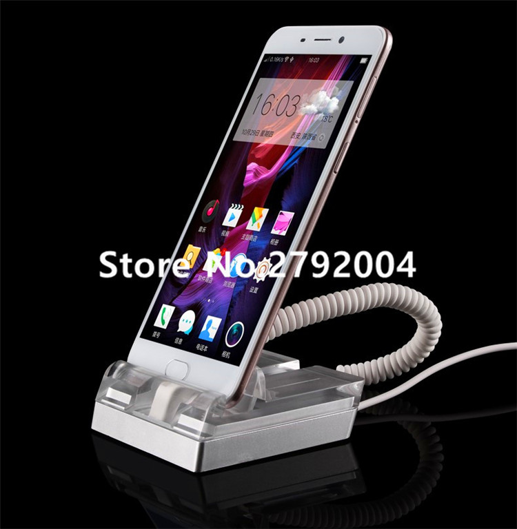 5 set/lot Mobile phone anti-theft device display lock Apple alarm Huawei charging experience counter VIVO OPPO Stent holder wholesale price mobile phone anti theft alarm display stand with charging for exhibition