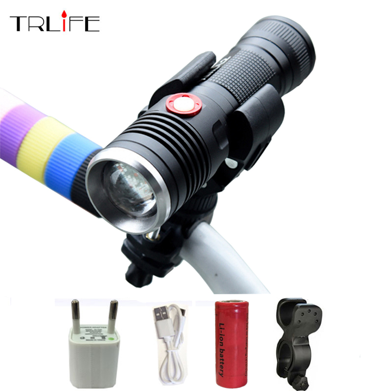USB LED Tactical Flashlight CREE XML T6/L2 Flashlight 8000LM 26650 Torch Power Reminder Flash Light Camping with USB Cable 8000lm usb cree xml l2 t6 led torch usb flashlight flash light led rechargeable lights zoomable lamp for hunting camping gift