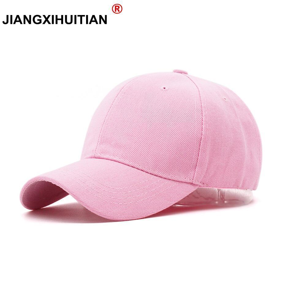 19ece39b70525 Durable 2018 New simple Masculino Snapback Casquette Gorras Blank Curved  Solid Color Adjustable Baseball Cap Bone