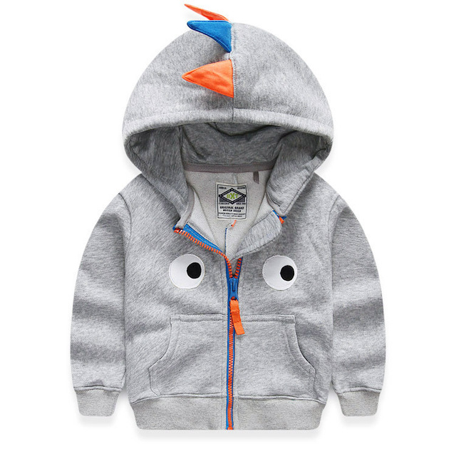 Children's Sweatshirts For Boys 2015 Spring Autumn Thick Baby Boys Dinosaur Hoodie 2-10 Years Kids Jacket Coat Boys Fall Clothes
