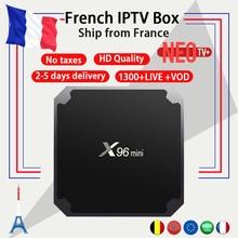 French IPTV X96mini 4k Android TV Box 7.1 with 1300+ NEO IPTV Europe French Arabic Spain Tunisia Morocco Smart TV Set top Box