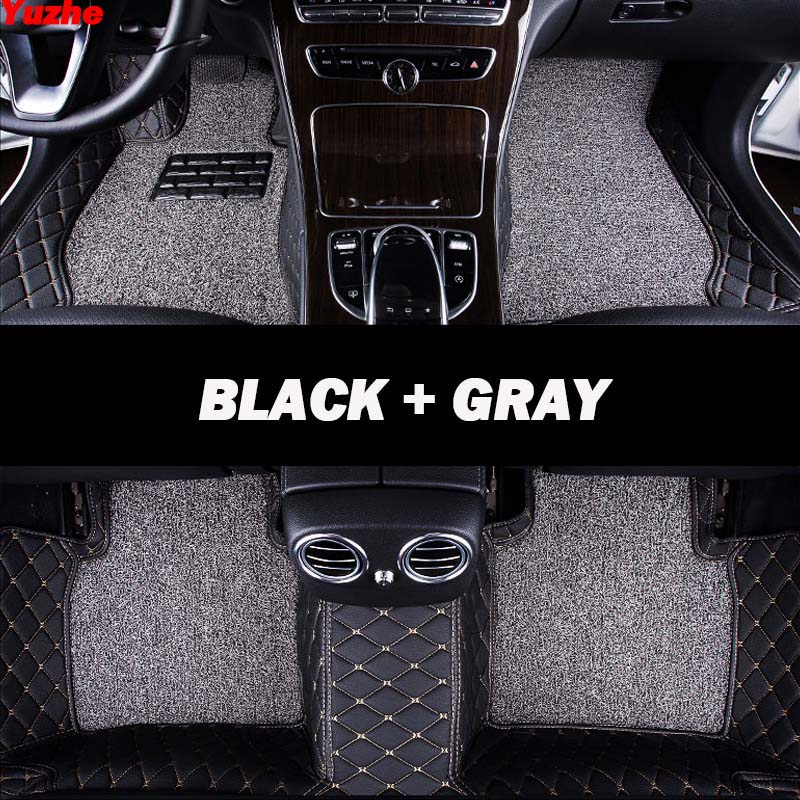 BLACK WITH RED TRIM FOR FORD FOCUS FIESTA MONDEO KA UNIVERSAL CAR FLOOR MATS