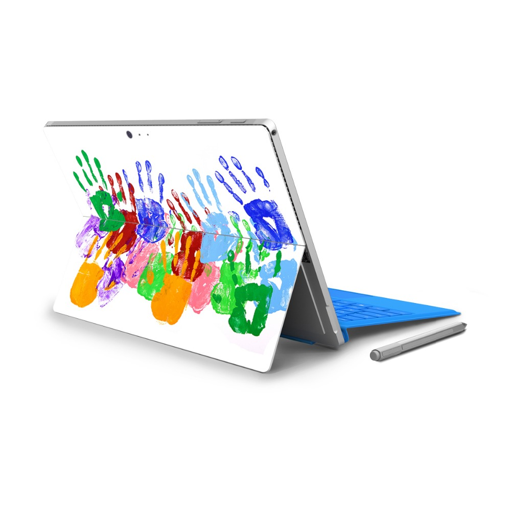 YCSTICKER - For Surface Pro 4 Vinyl Back Full Decal Tablet Painting Sticker Colored Prin ...