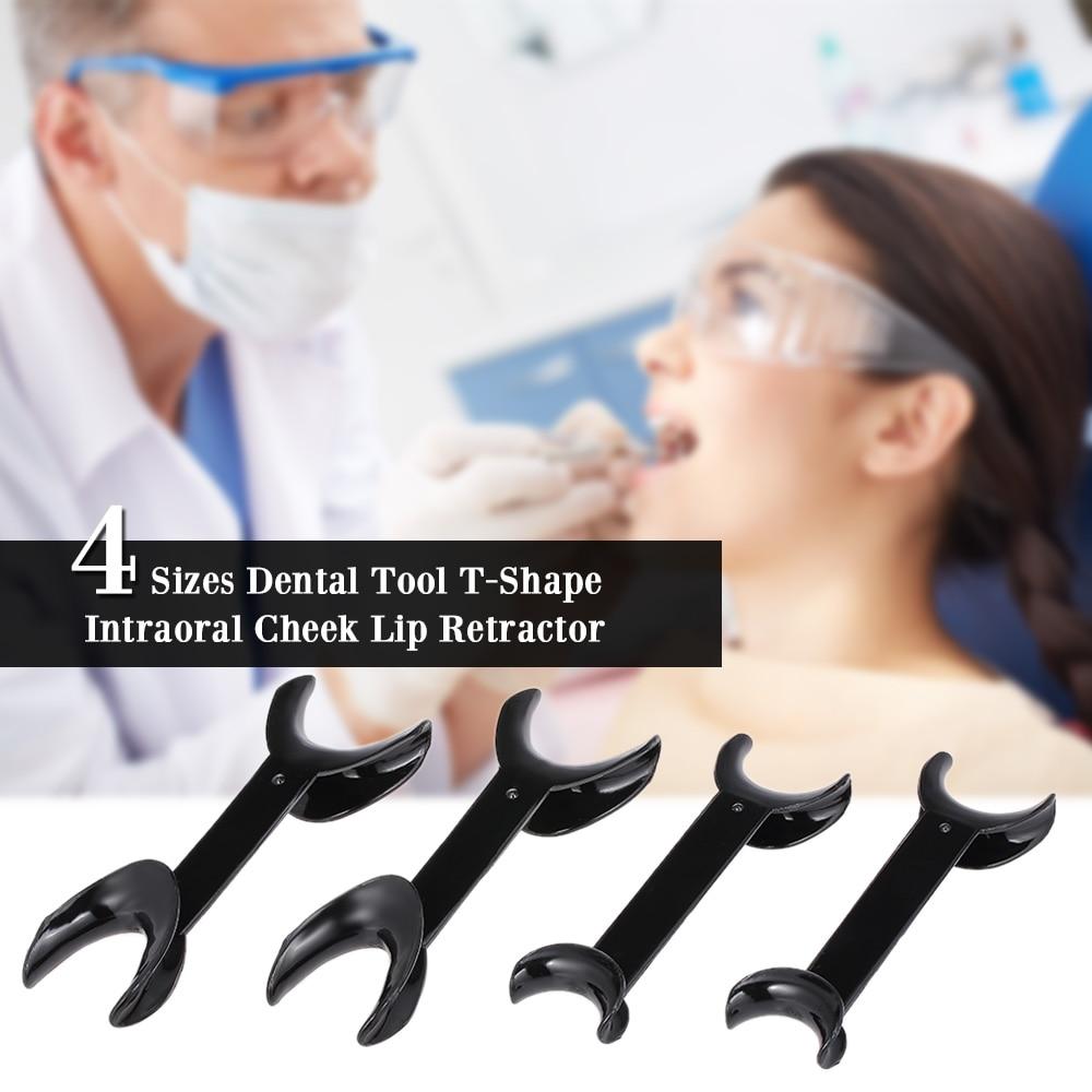 4 Size T-Shape Dental Opener Double Head Intraoral Cheek Lip Retractor Opener Orthodontic Teeth Mouth Opener Dentistry Equipment