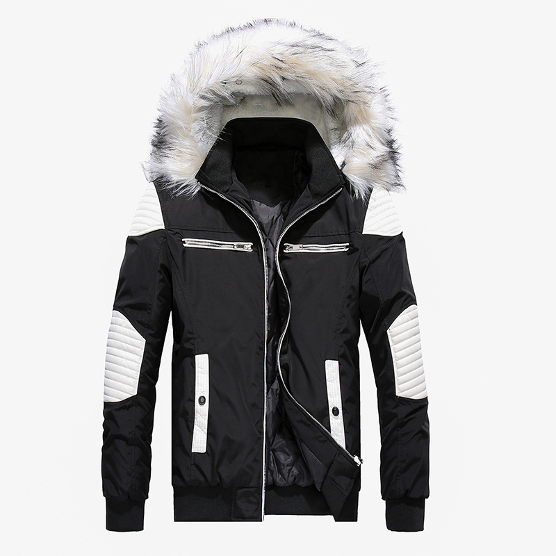 High Quality Thick Warm Mens Winter Jacket Coat Big Fur Hooded Street Style Men   Parka   Casual Slim Male Overcoat