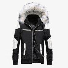 Veste dhiver épaisse et chaude pour hommes, manteau en grosse fourrure à capuche Style Street, Parka pour hommes, pardessus mince décontracté