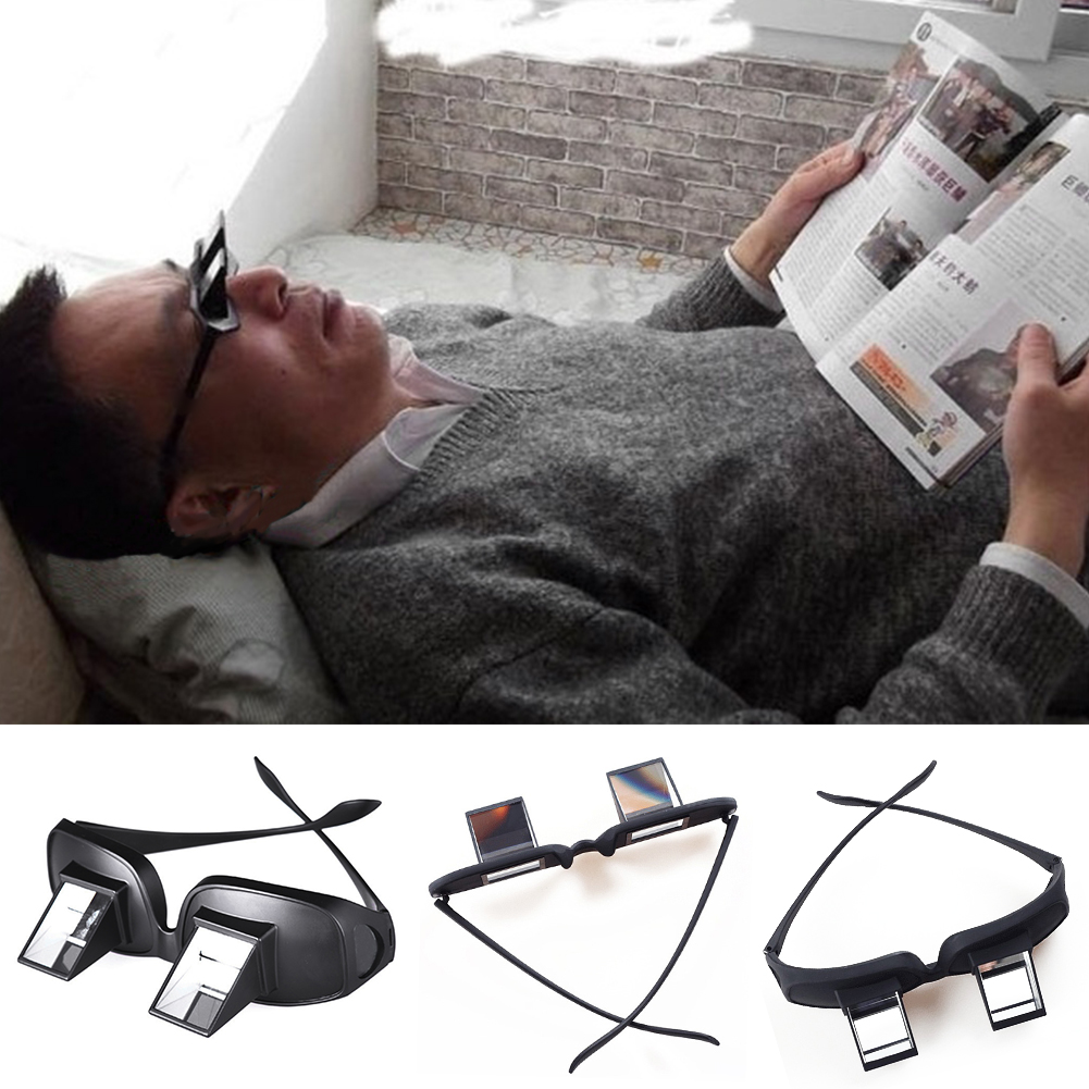 Popular Lazy Man Glasses Horizontal Type Reflective Glasses Practical Lied To Watch Tv Newspaper Periscope Men's Reading Glasses