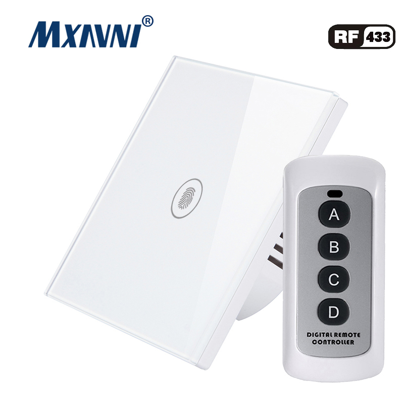 MXAVNI EU/UK Standard Touch Switch, 1 Gang Way Wall Lamp Luxury Crystal Glass Switch Panel LED