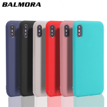 BALMORA Colorful Candy Case Capa Funda for iPhone 7 8 Plus X Soft TPU Silicon Cover for iPhone 6 Case 6s Plus 5 5s SE Matte Case