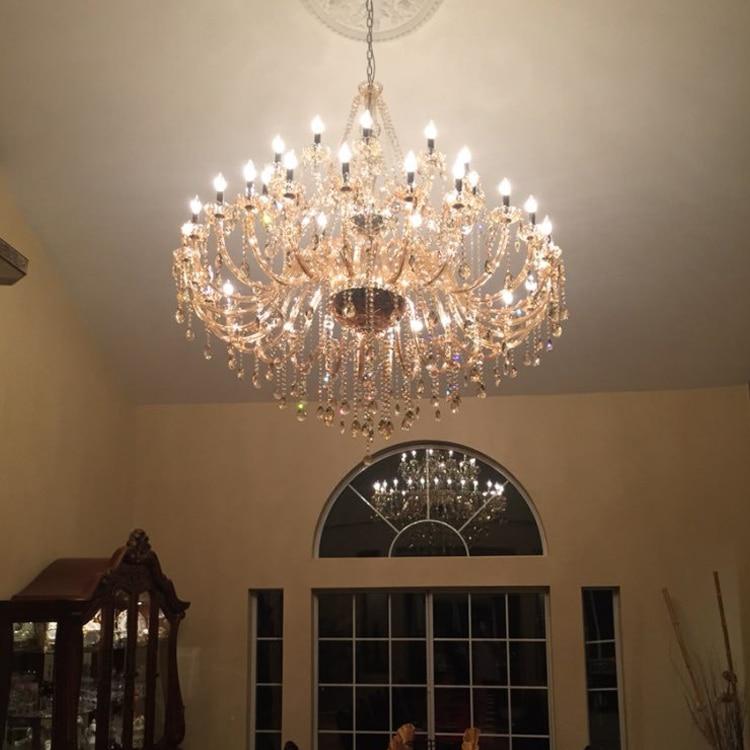 Modern Large Cheap Crystal Chandeliers Lighting Congac