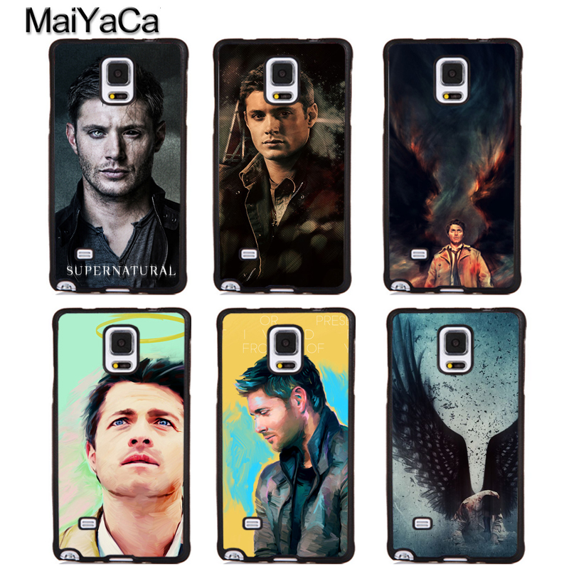 MaiYaCa Castiel angel of the lord supernatural Soft Rubber Phone Cases For Samsung Galaxy S6 S7 edge plus S8 S9 Note 4 5 8 Cover