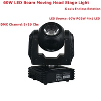 Korting Prijs 2 XLot Nieuwste 60 W RGBW 4IN1 Led Moving Head Beam licht DMX512 DJ Disco Apparatuur Mini Led Moving Head Wash Lights