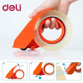 Deli 801 Tape Dispenser Manual Sealing Device Tape Cutter Baler Carton Sealer Width 48mm Packager Cutting Machine  DropShipping Tape Dispenser