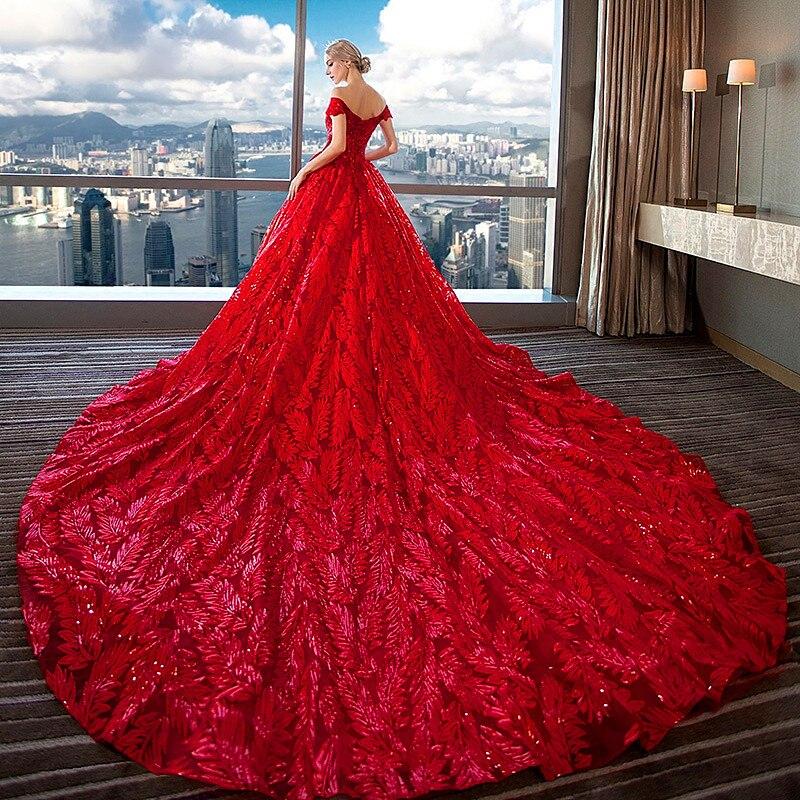 dfed614e658 Court Red Long Tail Maternity Wedding Dress Maternity Gown Lace Maternity  Dress Sequin Pregnant Women Dress. sku  32903051358