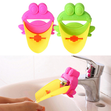 Hot Sale Cute Frog Bathroom Sink Faucet Chute Extender Child