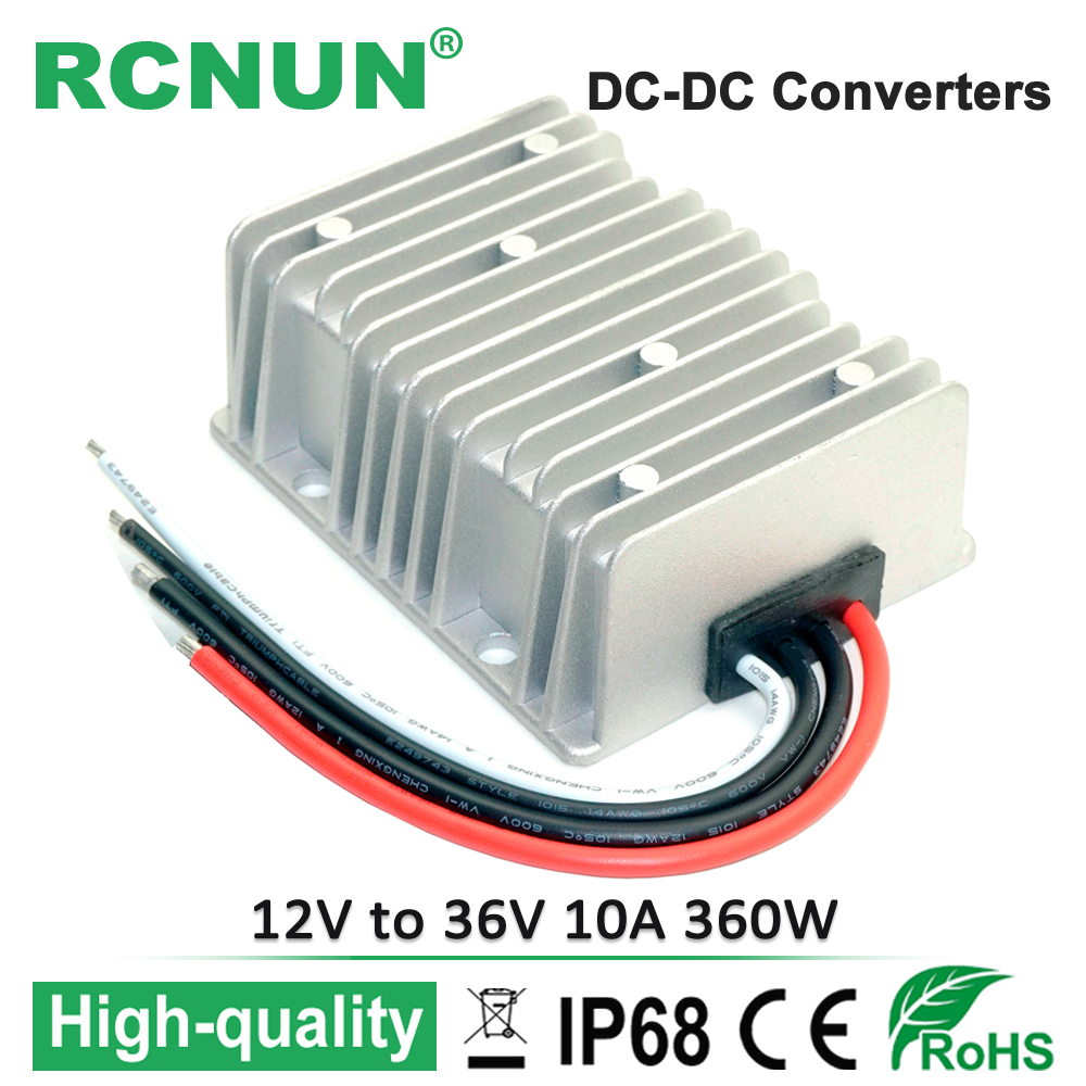 Waterproof DC/DC Converter 12V Step Up to 36V 10A 360W Power Supply Boost Module small bottle filling machine