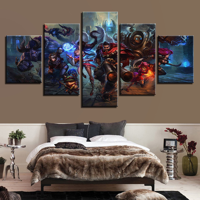 5 Piece Painting Print Game Poster Living Room Modular Canvas Picture Wall Art Home Decor 2