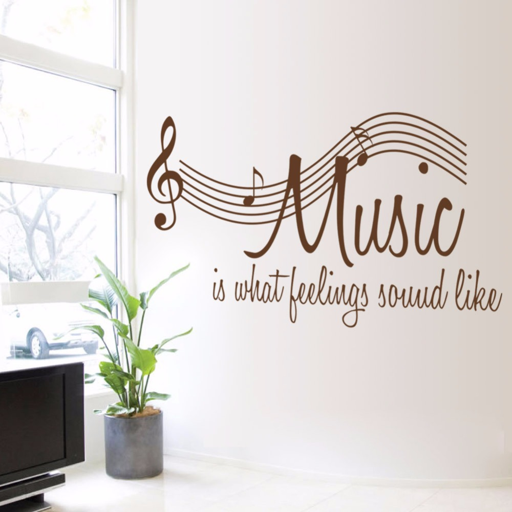 Creative diy family wall decal quotes brown music note wall creative diy family wall decal quotes brown music note wall stickers home decor living room bedroom removable vinyl wall murals in underwear from mother amipublicfo Gallery