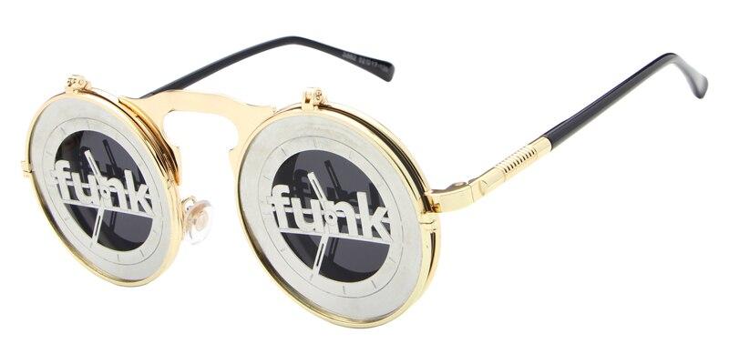 2017 Vintage Metal Punk Retro Steam Clamshell Flip Sunglasses High Quality Cool Driving Unisex Sun Glasses