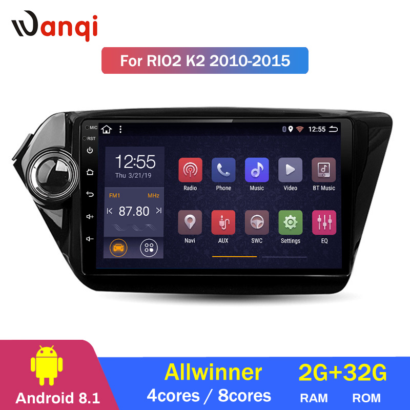 2G RAM 32G ROM 9 inch Android 8.1 car dvd GPS Navigation for KIA K2 RIO2 2010-2015 With Bluetooth/WIFI/USB/Radio2G RAM 32G ROM 9 inch Android 8.1 car dvd GPS Navigation for KIA K2 RIO2 2010-2015 With Bluetooth/WIFI/USB/Radio