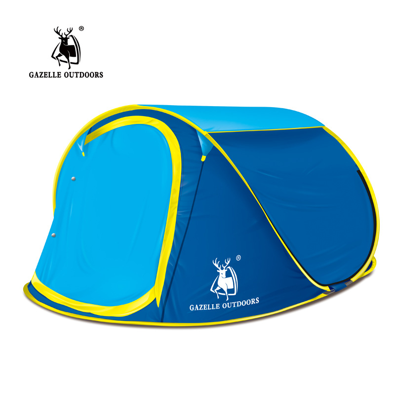 GAZELLE OUTDOORS Camping Tent Quick Automatic Opening Tent 3 4 Persons Family Tent Outdoor Waterproof Portable