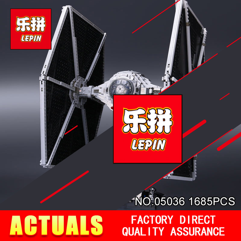 NEW LEPIN 05036 Star Holiday toy Wars 1685pcs TIE Model Fighter Building blocks Bricks Classic Compatible 75095 to Boys Gift elc 100 bricks toy wooden building blocks storage bag confirm to en 71 freeshipping
