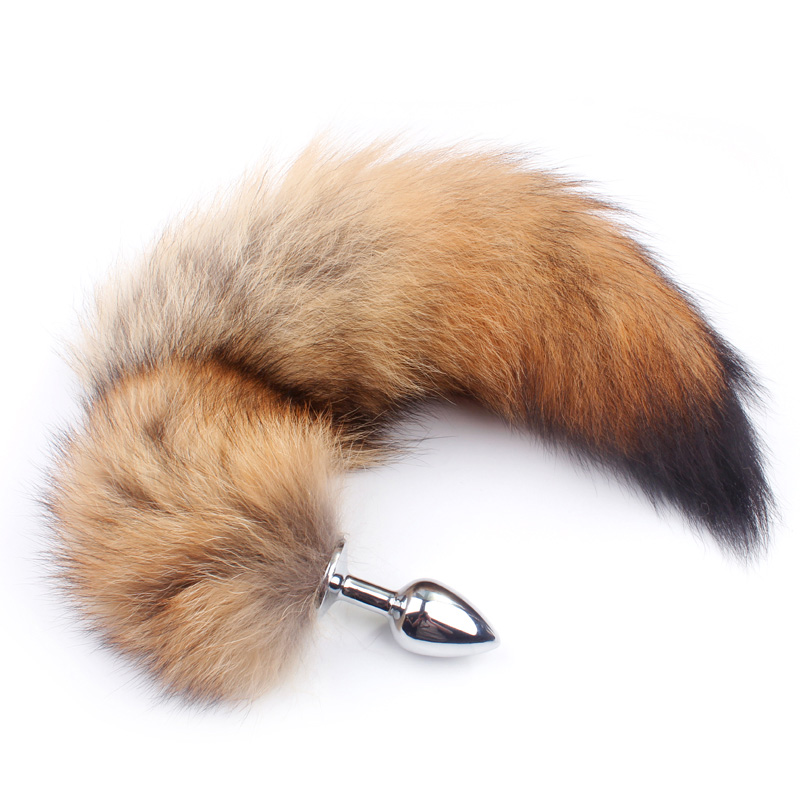 Fanala Drop Shipping 17'' Real Wolf Tail Butt Plug <font><b>Anal</b></font> <font><b>Toys</b></font> Special SM Fun <font><b>Toys</b></font> <font><b>Adult</b></font> Role-Playing Game For Couple Gay image
