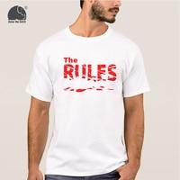 EnjoytheSpirit 2017 Men's Fashion T-shirt Letter Print THE RULES BREAK Casual Summer Short Sleeve T Shirt 100% Cotton Male Tops