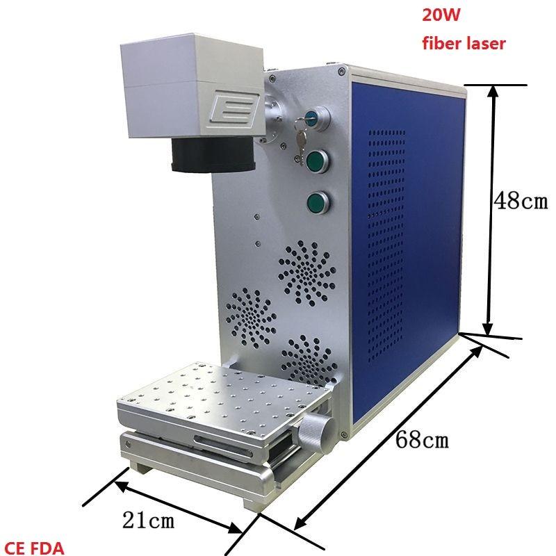 Mini Portable 20w Fiber Laser Marking Machine Metal Laser Engraver Marker With Maxphotonics Laser Source And Sino Galvanometer