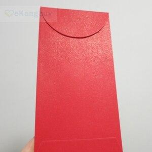 """Image 2 - 50 قطعة 172x90 مللي متر (3.7 """"x 3.5"""") الذاتي ختم المغلف الأحمر لامعة هدية المغلفات"""