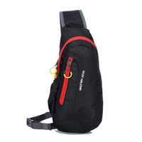 Nylon Waterproof Sport Chest Bags Casual Running Diagonal Package Women Men S Chest Bags Outdoor