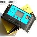 BUHESHUI Оптовая Продажа Солнечная Панель зарядное устройство контроллер Солнечный регулятор батарея домашняя система питания 10А 12В/24В с двой...