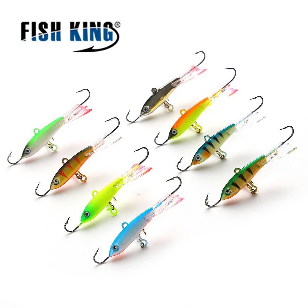 FISH KING 1PC Winter Ice Fishing Lure Jigging Lead Fish Bait Mix size Fishing Hook Ice Balance Jigs бутсы nike mercurial victory iii fg 509128 800