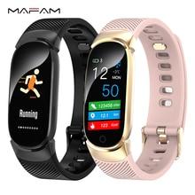 MAFAM QW16 Smart Watch Women 0.96 Inch Bracelet Wristband Blood Pressure Heart Rate Monitor Pedometer Sports