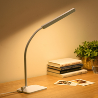 Minimalism Eye Protective LED Desk Lamp Touch Sensor Adjustable Gooseneck 5 Level Brightness 5 Color Temperature