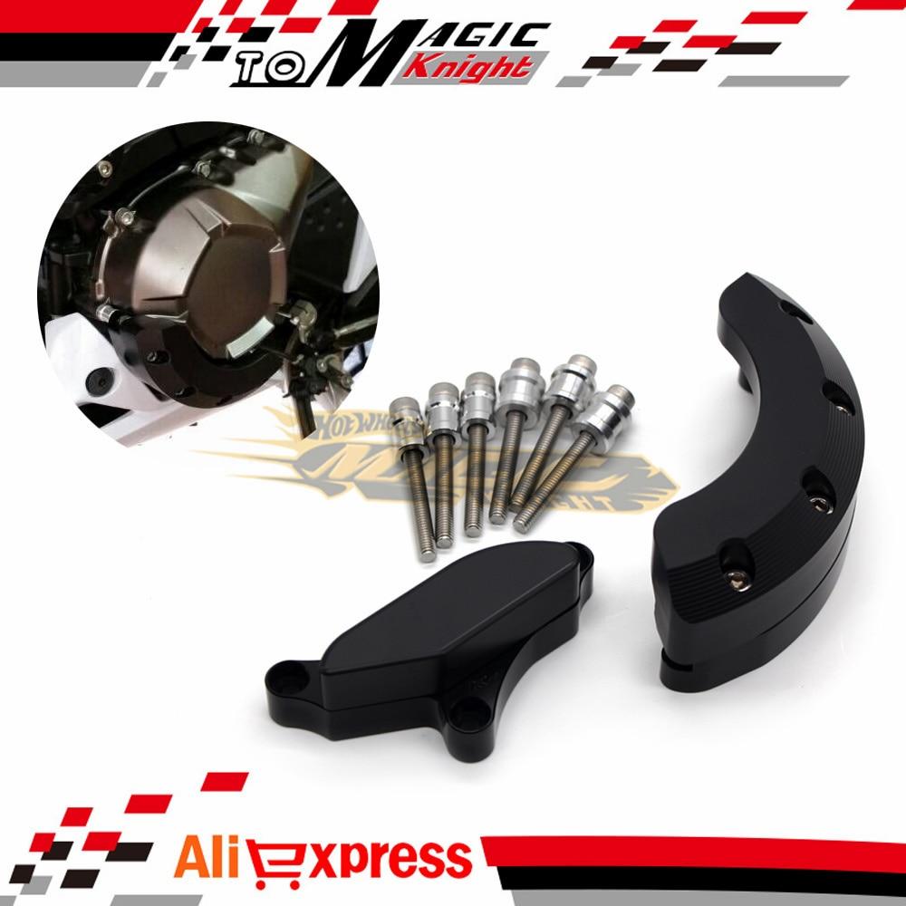 ФОТО For Kawasaki Z800 2012-2015 Motorcycle CNC Aluminium Plastic Black Engine Stator Clutch Cover Frame Slider Protector